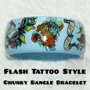Jewelry - Rockabilly/Pinup Chunky Bangle Bracelet